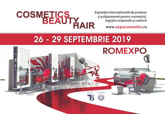 Banner eveniment dedicat industriei de beauty din România - COSMETICS BEAUTY HAIR 2019
