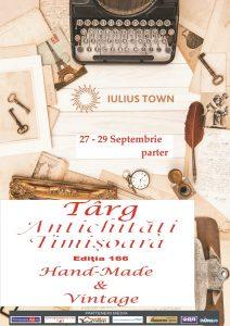 Afis Târgul de Antichităţi, ediția 166, la Timișoara