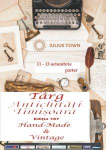 Afis Târgul de Antichităţi - ediția 167, la Timișoara