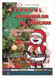 Afis Târgul cadourilor de Crăciun, la Iulius Town Timișoara 2019